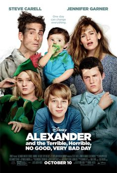 Alexander and the Terrible, Horrible, No Good, Very Bad Day movie posters and hilarious trailer. In theaters 10/10/14. www.SheSaved.com