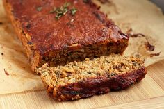 Lentil Meatloaf (Vegan) Made this the other night and it was AWESOME! Held together well and very tasty. Don't skimp on the fresh thyme.