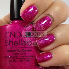 CND Shellac Garden Muse Collection - Butterfly Queen - swatch by Chickettes.com