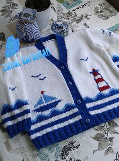 Baby by AnaSwet Cardigan Bebe, Knitted Baby Cardigan, Knit Baby Sweaters, Knitted Baby Clothes, Baby Knits, Baby Knitting Patterns, Knitting For Kids, Knitting Designs, Baby Patterns