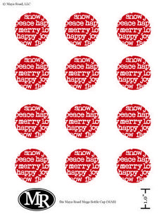 Free Maya Road Bottlecap Printouts - Happy Holidays!: