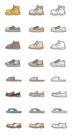 신발 아이콘 .PSD .ai Shoes Vector, Flat Design Illustration, Icon Collection, Drawing Tips, Icon Design, Art For Kids, Iphone Wallpaper, Infographic, Manga
