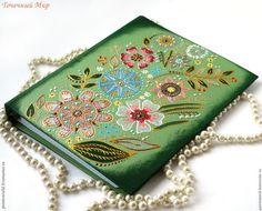 Купить Тетрадь на кольцах со сменным блоком Цветочная. Зеленый, цветы. - тетрадь на кольцах