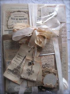 ❥ Paris Flea Market Paper Bag Album Kit