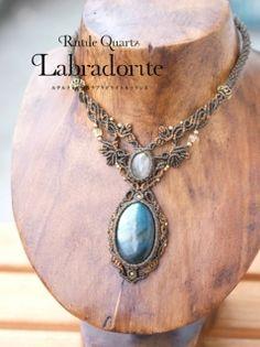 Rutile křemen (Brazílie) labradorit (africký) / náhrdelník