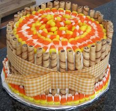 Fall cake... gender reveal...we could make this