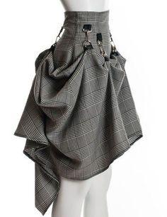 nice SteamPunk Gray Black Avant Garde Drapes Rockability Skirt by http://www.polyvorebydana.us/steampunk-fashio/steampunk-gray-black-avant-garde-drapes-rockability-skirt/