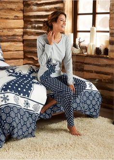 Piżama Z nadrukiem z boku • 39.99 zł • bonprix