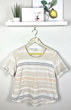 38222e7ec69752 Dash Womens UK 10 Lightweight Cotton Summer Short Sleeve Boxy Top #fashion  #clothing #shoes #accessories #womensclothing #tops (ebay link)
