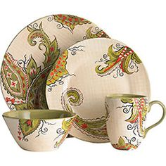 ~ I really like the colors and print on this dinnerware.