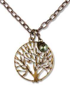 SoulFlower-Antiqued Brass Tree Necklace-$24.00