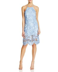 Lovers + Friends Halter Lace Midi Dress | Bloomingdale's