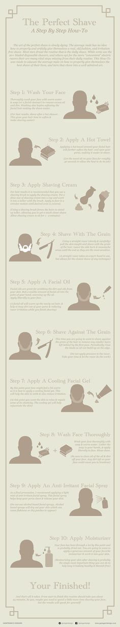 The Perfect Shave - A Step by Step How-To Inforgraphic #infographic #men #style