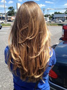 Ombré hair/highlights