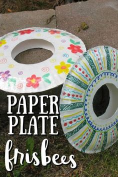 Turn ordinary paper plates into a fun frisbee! This paper plate frisbee craft is great for spring and summer! Paper plate Crafts for Kids #frisbeecrafts #paperplatecrafts #craftsforkids #easycrafts #kidscrafts #summercrafts #craftsbyamanda Family Fun Games, Fun Games For Kids, Art Activities For Kids, Free Activities, Paper Plate Art, Paper Plate Crafts For Kids, Paper Plates, Summer Sports Crafts, Summer Crafts For Kids
