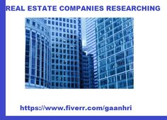 Do you need real estate companies researching service? Check out this one!