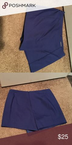 Express shorts New never worn! Beautiful deep blue color. These are perfect for spring and summer Express Shorts Skorts