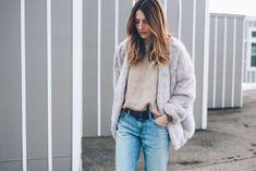 Faux Fur Coat And Boyfriend Jeans