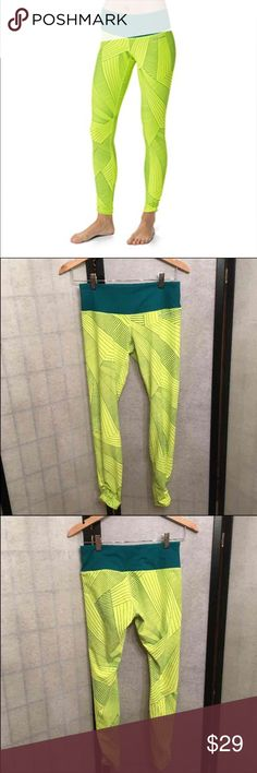 Brooks Greenlight Running Tights Leggings Size small, scrunching on the ankles of both legs. Bought for high visibility when running but haven't ever worn them. No flaws. Several pockets in the waistband. No roll waistband. NWOT.  Lots of Victoria Secret, Pink, Nike, Under Armour, Lululemon, Patagonia, Miss Me, and other Buckle items to list. Follow me to check out the great deals. I'm always happy to bundle.   All items are from a clean non smoking home. Brooks Pants Leggings