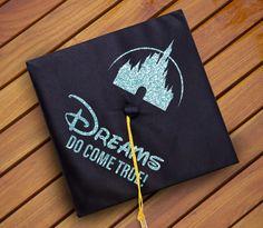 Dreams Do Come True Disney Castle Graduation Cap Decal Decoration - Vinyl - DIY