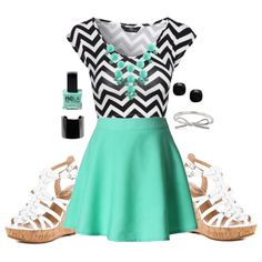 Summer Lovin'. I have a mint skirt... Just need to find a chevon shirt haha