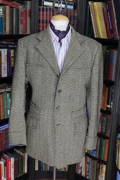 Herringbone Tweed Norfolk Jacket, Shooting Jacket