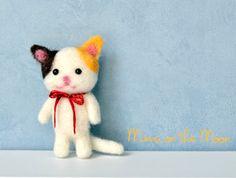 Tiny Kitten Needle Felted Tutorial Gatito Lana Afieltrada