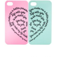 BFF 2pk iPhone Case ($5) ❤ liked on Polyvore featuring accessories, tech accessories, phone cases, phones, cases, electronics, iphone sleeve case and iphone cover case