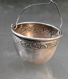 vintage french sterling silver Tea Strainer