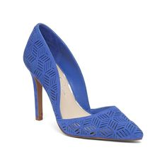 Jessica Simpson Charie Chop-Out Leather Pump - Blue