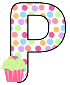 Abecedario con Lunares de Colores y Cupcakes. Alphabet with Colored Polka Dots and Cupcakes. Abc For Kids, Letter I, Letter Board, Letter Balloons, Printable Letters, Love You More Than, Letters And Numbers, Recipe Cards, Cute Pictures