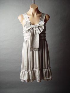 Elegant Ribbon Bow Ruffle Dress