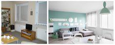 POLKA /_\ SINGLE SPACE /ONA\ – metamorfoza wnętrza mieszkania - BEFORE & AFTER by KASIA #ORWAT home design \ photography by WERONIKA #TROJANOWSKA \http://www.werqe.pl