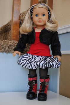 American Girl Doll outfit. I love ZEBRA!