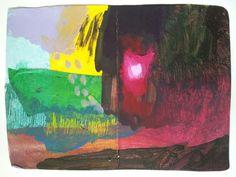 Untitled / paysage acrylique, papier et gouache sur papier Environ 8 x11 pouces BN 2014
