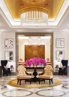Corinthia Hotel Lobby, London ::so nice and bright. Lobby Design, Design Hotel, House Design, Floor Design, Restaurant Hotel, W Hotel, Commercial Design, Commercial Interiors, Lobby Do Hotel