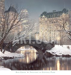 TWILIGHT IN CENTRAL PARK  Art Print - By Rod Chase