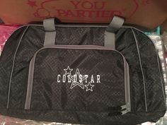 All packed duffle, super star icon in silver, white  font A7 all caps.