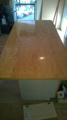 Oak plywood island top