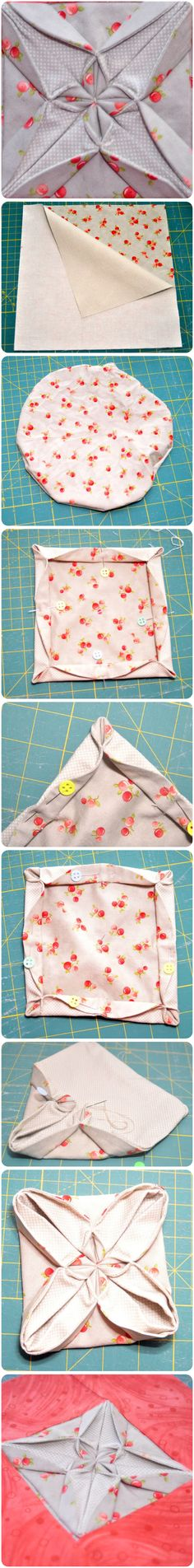 Fabric origami tutorial - quilt block