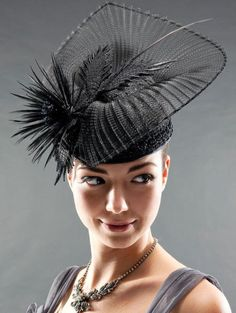 LACE AND CRINOLINE ELEGANCE  BY HAT ACADEMY #millinery #hats #HatAcademy