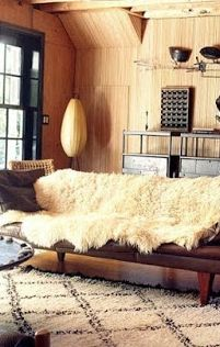 Vogue Living Australia, August Sheepskin rug and Moroccan rug Home Theaters, My Living Room, Home And Living, Living Spaces, Vogue Living, Sheepskin Throw, Tapis Design, Home And Deco, Interior Exterior