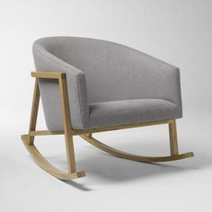 $599 - Ryder Rocking Chair | west elm.   My fantastic vintage reupholstered chairs (see next pin) are so similar...but $ 200 cheaper each! Though I have to admit that rocking chairs are cool.