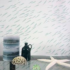 Pescado escuela Stencil Allover patrón por CuttingEdgeStencils