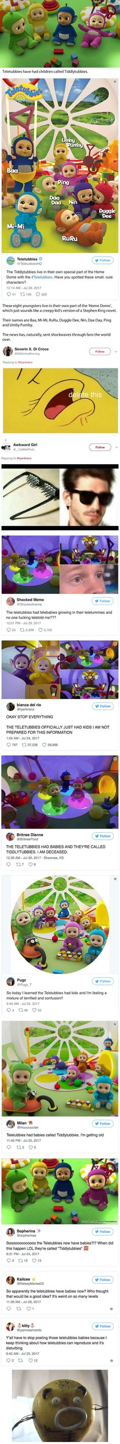 The Teletubbies have 'had babies' and the Internet has only just noticed
