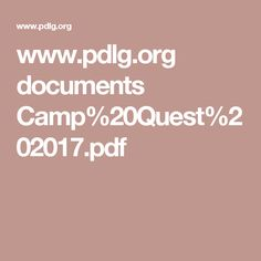 www.pdlg.org documents Camp%20Quest%202017.pdf