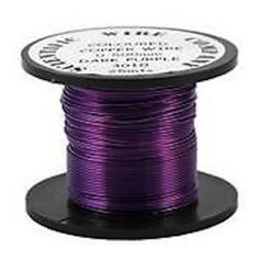 Copper Coloured Wire, Dark Purple, Copper Wire, Coloured Wire, Purple Wire £3.25