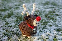 Crochet Ronald the Fat Little Reindeer by Anna Beckett