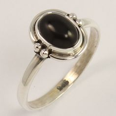 925 Sterling Silver Indian Jewelry Ring Size US 7.75 Natural BLACK ONYX Gemstone…