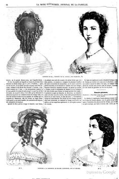 ladies of the 1860s la modes illustree for january 1862 19th century hats bonnets and hair. Black Bedroom Furniture Sets. Home Design Ideas